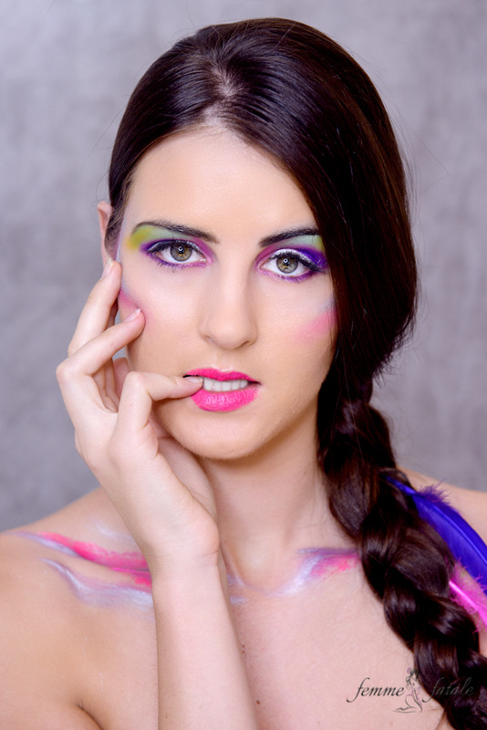 Rainbow Cupcake & Makeup Shoot
